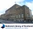 Gebouw van de National Library of Scotland met daaronder het logo