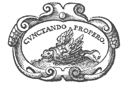 Cunctando Propero - Logo Short Title Catalogus Vlaanderen (STCV)