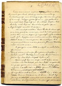 Het handschrift van Lijmen van Elsschot