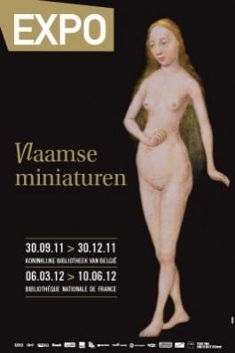 Affiche expo Vlaamse Miniaturen, KB België