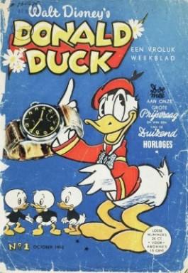 Eerste nummer van het tijdschrift Donald Duck uit 1952 (KB Nederland)
