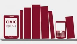 Plank met boeken en digitale toetstellen