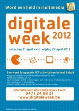 Affiche Digitale Week 2012