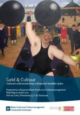 Affiche colloquium 'Geld & Cultuur'