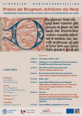 Poster 'Praten als Brugman, schrijven als Herp'