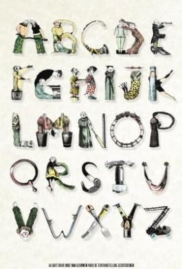 Alfabet door Joke van Leeuwen voor de tentoonstelling 'Leestekenen'