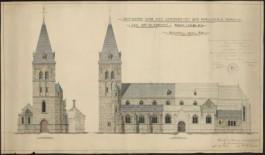 bouwtekening van de kerk van Opglabbeek