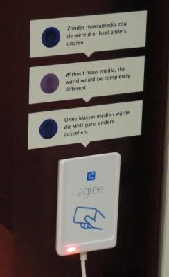 Tekstballon 'Zonder massamedia zou de wereld er heel anders uitzien'