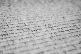 Foto van detail van een handgeschreven brief