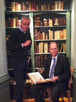 De heren Drs A.D. Steenkamp (links) en Arie Molendijk (rechts)