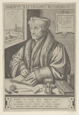 Portret van Erasmus door Frans Huys, 1555
