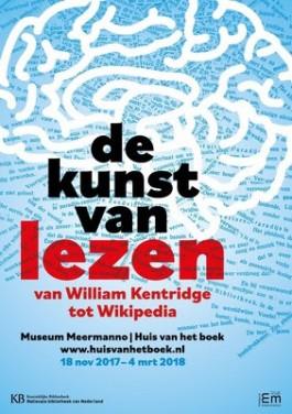 Poster van de tentoonstelling 'De kunst van lezen'