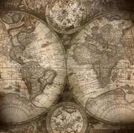 Foto van hele oude kaart