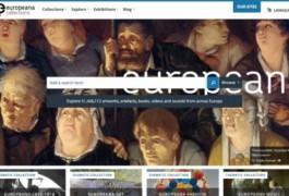 Screenshot van de homepagina van Europeana