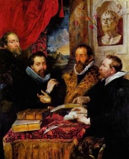 Schilderij 'De vier filosofen' van Peter Paul Rubens, 1611