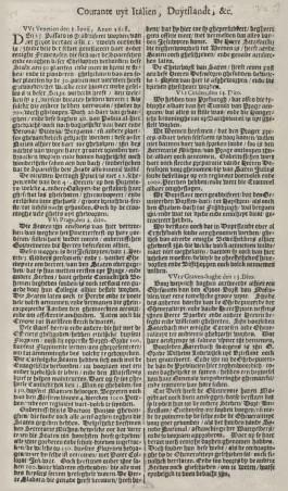 Afbeelding van de 'Courante uyt Duytslandt, Italiën, etc.' van 14 juni 1618