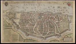 Een historische kaart van Antwerpen