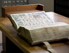 Manuscript dat openligt