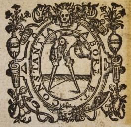 drukkersmerk 'de gulden passer' van Christoffel Plantijn