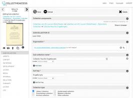 Screenshot Collectiewijzer Erfgoedbibliotheken in CollectiveAccess