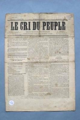 Le cri du peuple. Historische krant