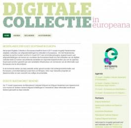 Website Digitale Collectie in Europeana