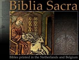 Openingsbeeld website Biblia Sacra