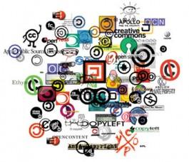Collage Open Content-gerelateerde logo's