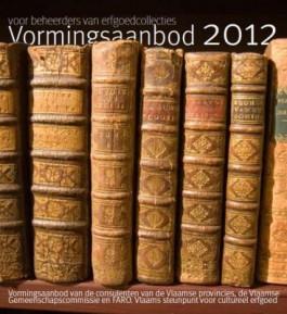 Voorpagina brochure 'Vormingsaanbod 2012'