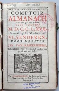 Den nieuwen Vlaemschen comptoir almanach
