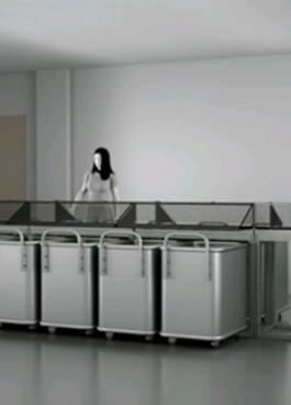 Ontwerptekening deel sorteerinstallatie