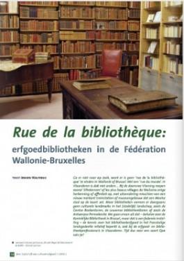 Fragment uit het artikel 'Rue de la bibliothèque'
