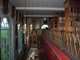 Interieur van de erfgoedbibliotheek van Stichting de Bethune