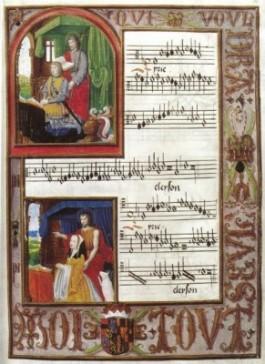 Pagina uit het Koorboek voor Filips de Schone