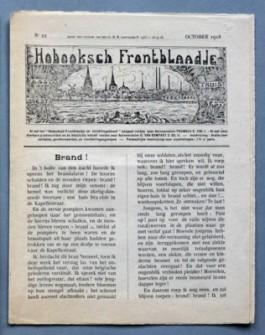 Voorpagina Hobooksch frontblaadje, oktober 1918