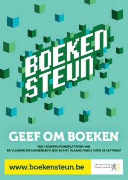 Poster 'Boekensteun. Geef om Boeken'