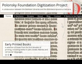 Polonsky Digitization Project homepage