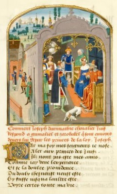 Pagina uit de 'Mystère de la Vengeance' van Eustachius Marcadé