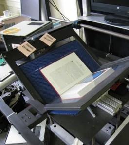 Boekscanner met open boek