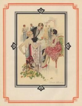 Man geeft vrouw sigaret in jaren '30 setting