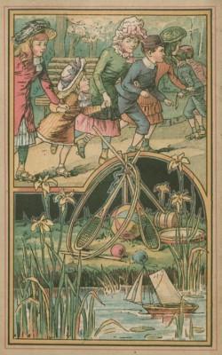 Spelende kinderen in een laat-19-eeuwse setting