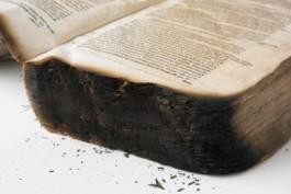 boekblok met zware brandschade Schadeatlas Bibliotheken