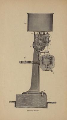 Technische tekening van een afroommachine