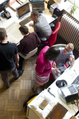 Het team van de Vlaamse Erfgoedbibliotheek in actie