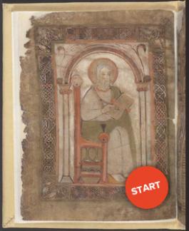 Pagina uit het verluchte handschrift Codex Eyckensis