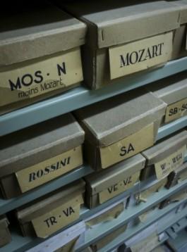 Foto van catalogussysteem waardoor deelcollecties zichtbaar worden