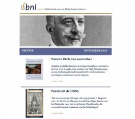 DBNL nieuwsbrief november 2017