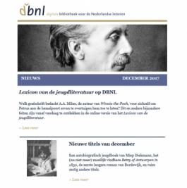 DBNL december nieuwsbrief