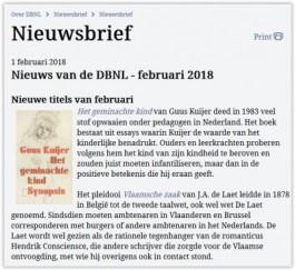 Nieuwsbrief DBNL februari
