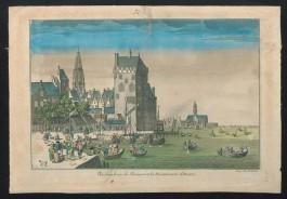 """Schilderij """"De monding van de Schelde en vishandelaren te Antwerpen"""""""